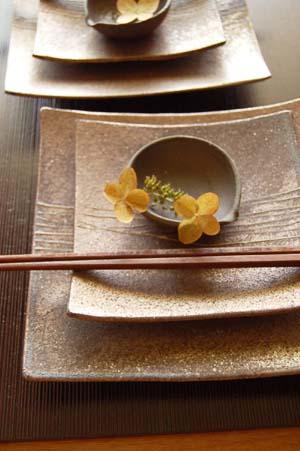 トクサ角皿